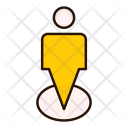 Pointer Location Pin Icon