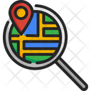 Search Map Magnifying Glass Icon