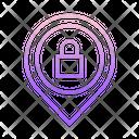 M Map Lock Location Location Security Location Lock Icon
