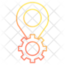 Location Setting Gear Icon