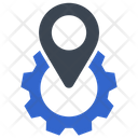 Gear Navigation Pin Icon