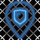 Location Shield Shield Protection Icon
