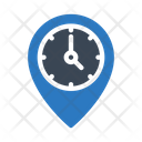 Stopwatch Location Pin Icon