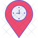 Location Time Arrival Clock Icon