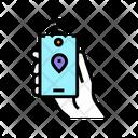Location Tracker Nfc Smartphone Icon
