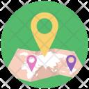 Locationing Location Pointer Icon