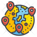 Locations Global Location Navigation Icon