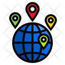Locations Earth World Icon