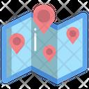 Locator Paper Map Map Location Icon