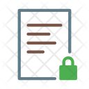 Lock Text Document Icon