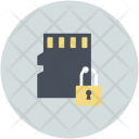 Lock Sign Microchip Icon