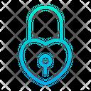 Love Lock Heart Lock Private Icon