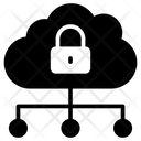Lock Network Cloud Icon