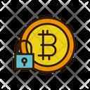 Lock Bitcoin Security Bitcoin Safety Icon