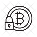 Lock Bitcoin Security Bitcoin Safety Icon