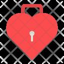 Lock Keyhole Heart Icon