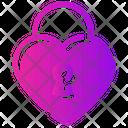 Valentine Day Heart Lock Icon