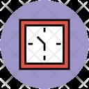 Lock Timer Square Icon