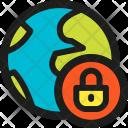 Lock Earth Icon