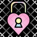 Lock Valentine Heart Icon