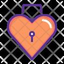 Lock Heart Romance Icon