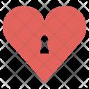 Lock Heart Love Icon