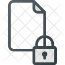 Lock Secure Paper Icon