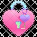 Lock And Key Heart Lock Heart Key Icon