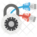 Lock And Network System Security Password Icon