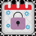 Padlock Calendar Date Icon