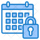 Lock Calendar Private Calendar Lock Icon