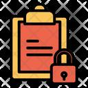 Board Lock Lock Clipboard Icon