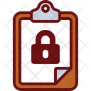 Lock Clipboard Protected Report Secure Document Icon