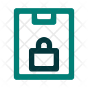 Clipboard Lock Secure Icon