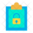 Clipboard Lock Protected Document Icon