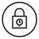 Lock Time Security Icon