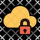 Online Storage Online Data Lock Cloud Icon