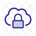 Cloud Lock Cipher Icon