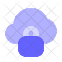 Lock Cloud Safe Cloud Data Protected Cloud Icon