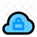 Lock Cloud Network Icon