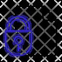 Lock Data Online Storage Online Data Icon
