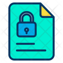 Page File Lock Document Icon