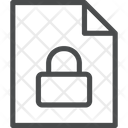 Lock Document Icon