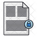 Lock File Security Icon
