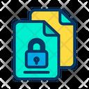 Lock Documents Icon