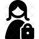 Lock Female Account Icon