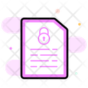 Secure File File Protection File Lock Icon