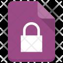 Lock File Sheet Icon
