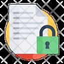 Lock File Lock Paper Lock Document Icon