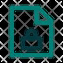 Lock Privacy Paper Icon